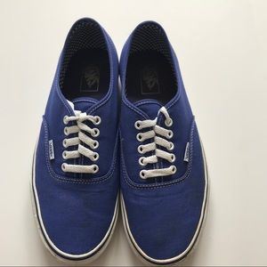 Vans Men Size 10 Royal Blue True White Sneakers